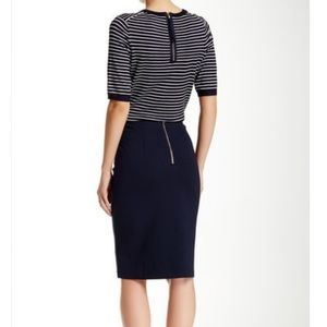 PHILOSOPHY - Navy Blue knit pencil skirt